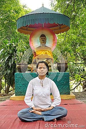 Meditate lady