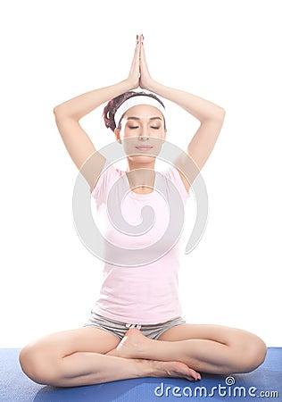 Meditating девушка