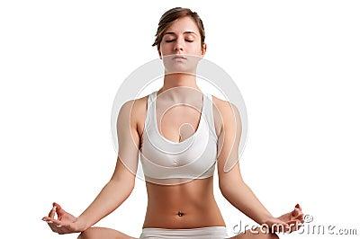 Γυναίκα Meditating