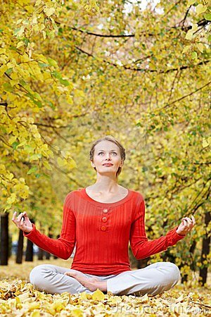 Meditating in autumn