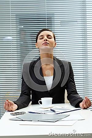 Meditating employer