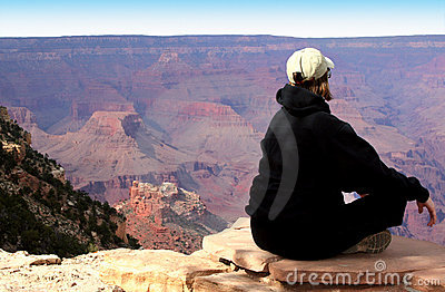 Meditating at the Grand Canyon