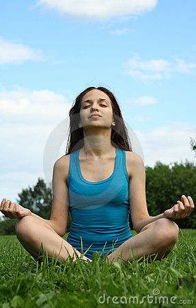 Meditating in the park