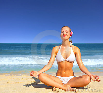 Meditating by the Sea