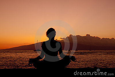 Meditating in Sunset