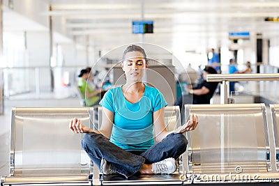 Meditation at airport