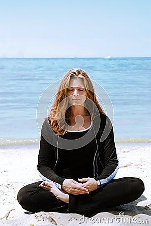 Free Meditation At The Beach Stock Photo - 2887620