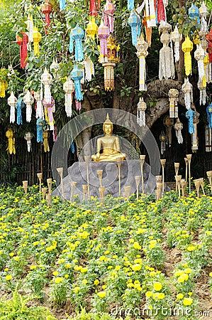 meditation buddha statue im garten stockfotografie bild. Black Bedroom Furniture Sets. Home Design Ideas