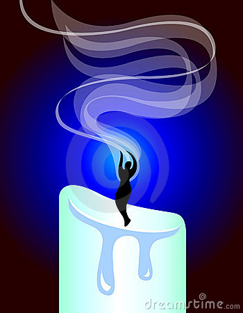 Meditation Candle Smoke/ai