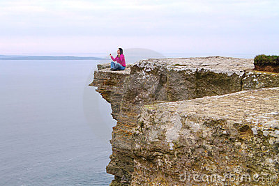 Meditation on the cliff