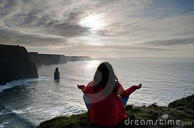 Meditation on the cliffs of moher