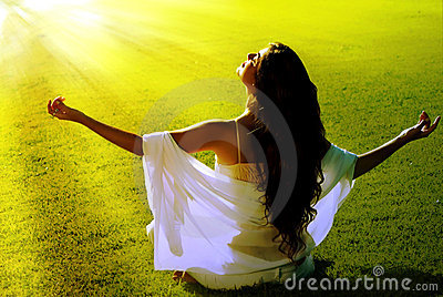 Meditation on a field in solar beams