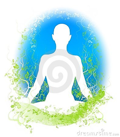 Meditation Garden Silhouette 2