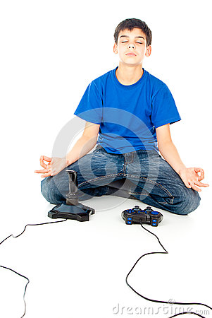 Meditation near joysticks