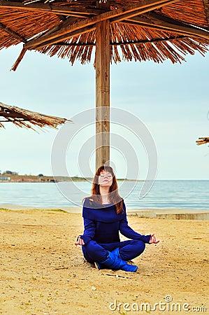 Meditation near the sea