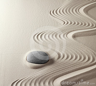 Free Meditation Rock Japanese Zen Garden Stock Photos - 24371813