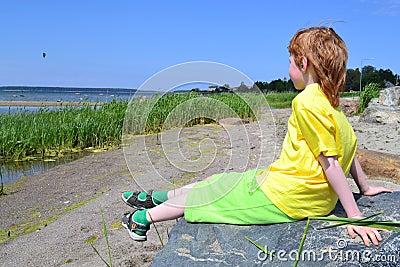 Meditation at a shoreline