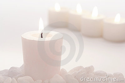 Meditation Votive Candle in High Key White Mood