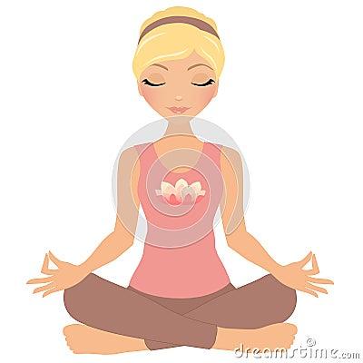 Free Meditation Woman Royalty Free Stock Photo - 43597675
