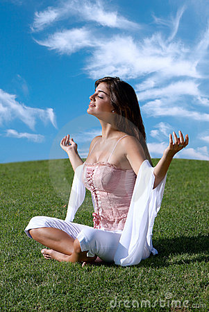 Meditation Of Woman Royalty Free Stock Photo - Image: 9109075