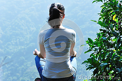 meditation yoga mountain top