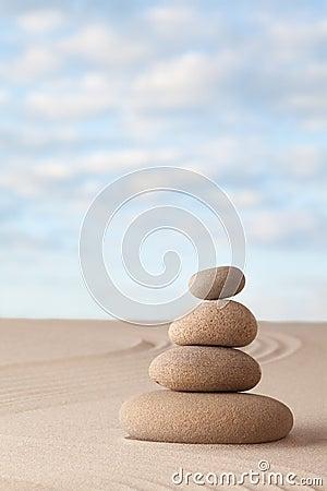 Meditation zen sand and stone garden