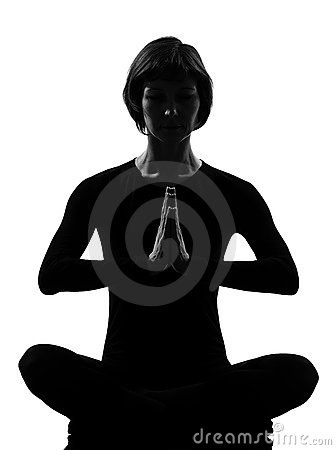 Meditationen poserar sukhasanakvinnayoga