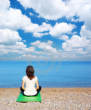 Meditationkvinna