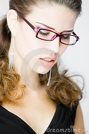 Meditative young woman