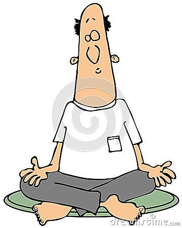Meditera mannen