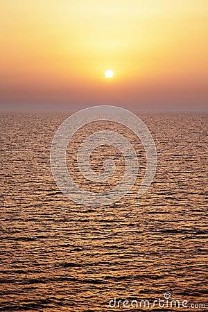 Mediterrane zonsondergang.