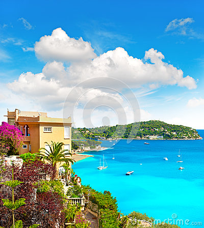 Free Mediterranean Beach Landscape, French Riviera Stock Images - 39283114