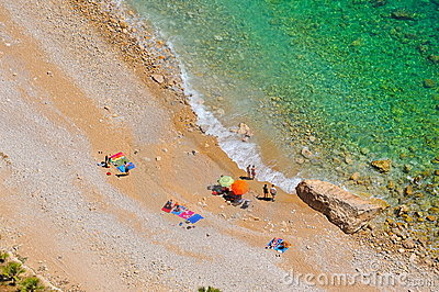 Mediterranean beach in summertime