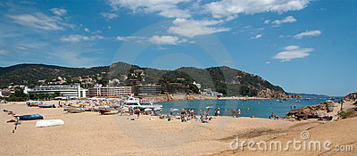 Mediterranean beach Tossa de Mar Catalonia Editorial Photo