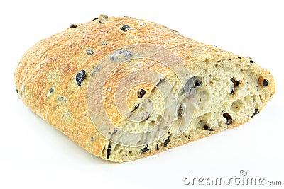 Mediterranean Ciabatta Black olive bread.
