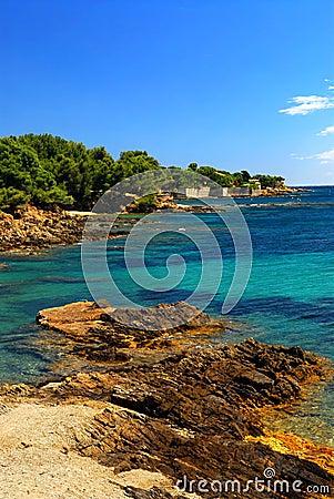 Mediterranean coast of French Riviera