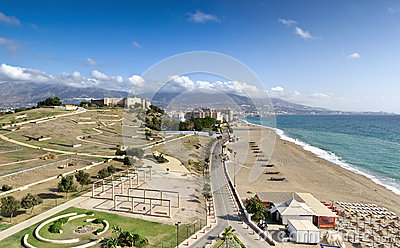 Mediterranean coastline, Fuengirola (Spain)
