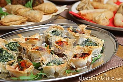 Mediterranean Filo Tartlet Canapes
