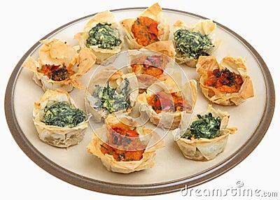 Mediterranean Filo Tartlets