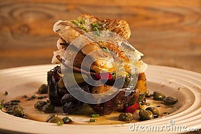 Mediterranean fish dish.