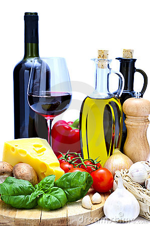 Free Mediterranean Food And Wine Stock Photography - 19183332