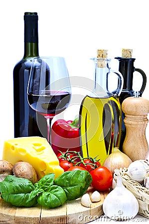 Mediterranean food and wine