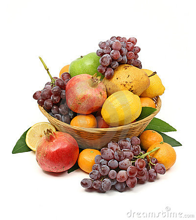 Free Mediterranean Fruit Basket Royalty Free Stock Photography - 3565427