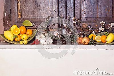 Mediterranean fruits composition