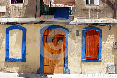 Mediterranean house facade