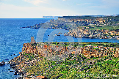 Mediterranean landscape in Malta