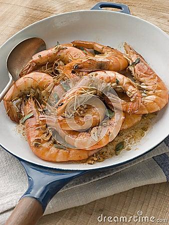 Free Mediterranean Prawns Cooked In Pastis Stock Images - 5621894