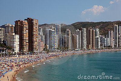 Mediterranean resort Benidorm Editorial Stock Photo