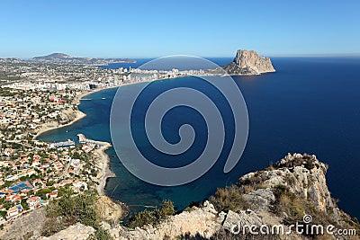 Mediterranean resort Calpe, Spain