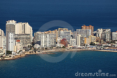 Mediterranean resort Calpe, Spain